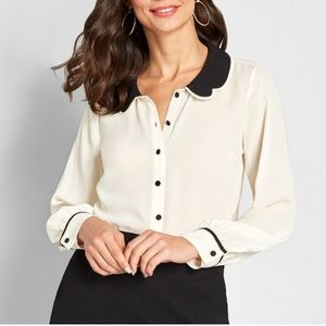 ModCloth Your True Collars Button Down Blouse| XS